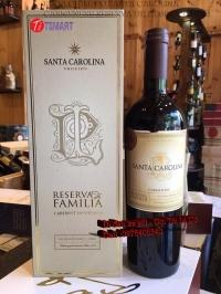 RƯỢU CHILE ĐỎ SANTA CAROLINA CARMENERE RESERVA DE FAMILIA TPHCM