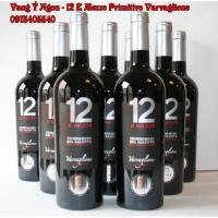 Rượu vang Ý Số 12 E Mezzo Primitivo Del Salento Giao Nhanh HCM