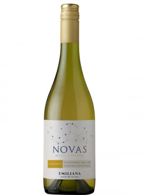 Vang trắng Novas Gran Reserva Chardonnay nắp vàng