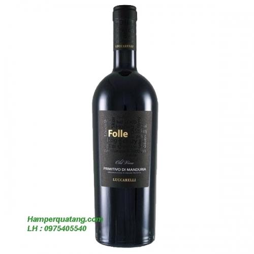 Rượu Vang Ngoại Ý - Folle Old Vine Primitivo Di Manduria