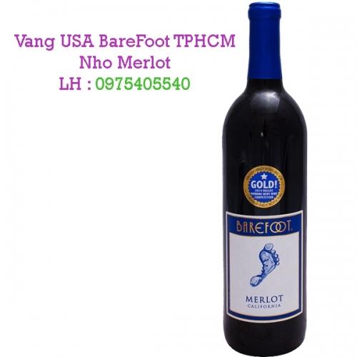 Vang USA BareFoot TPHCM Nho Merlot