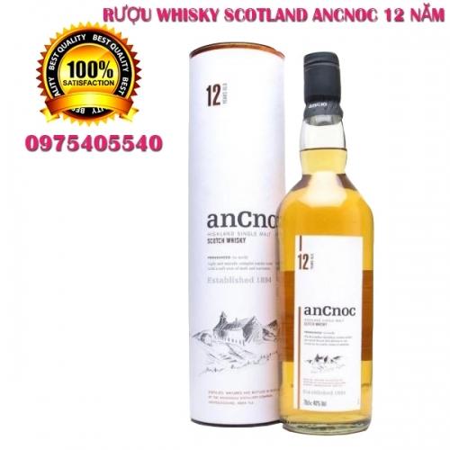 RƯỢU WHISKY SCOTLAND ANCNOC 12 NĂM GIÁ TỐT HCM