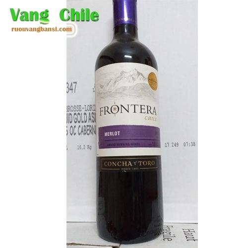 VANG CHILE FRONTERA MERLOT TPHCM