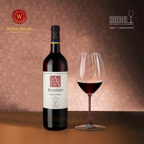 Vang phap Aussières Selection, Languedoc, Vin De Pays D'oc