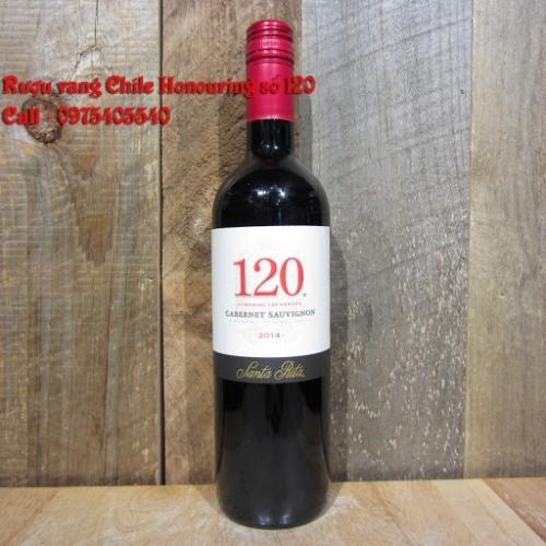 Rượu vang Chile Honouring số 120 giao nhanh 0975405540
