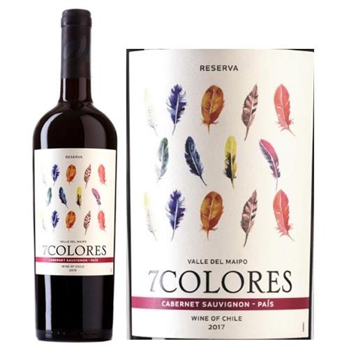 Rượu vang đỏ 7 Colores Cabernet Sauvignon Pais Reserva