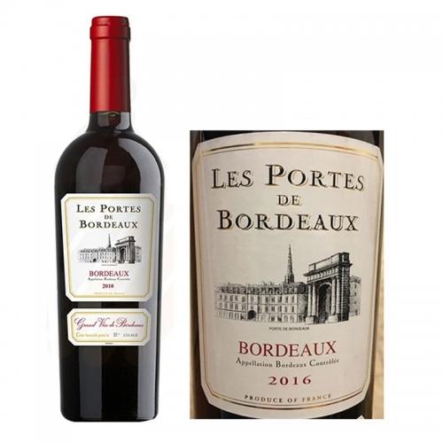 Rượu Vang Pháp Les Portes de Bordeaux 2016